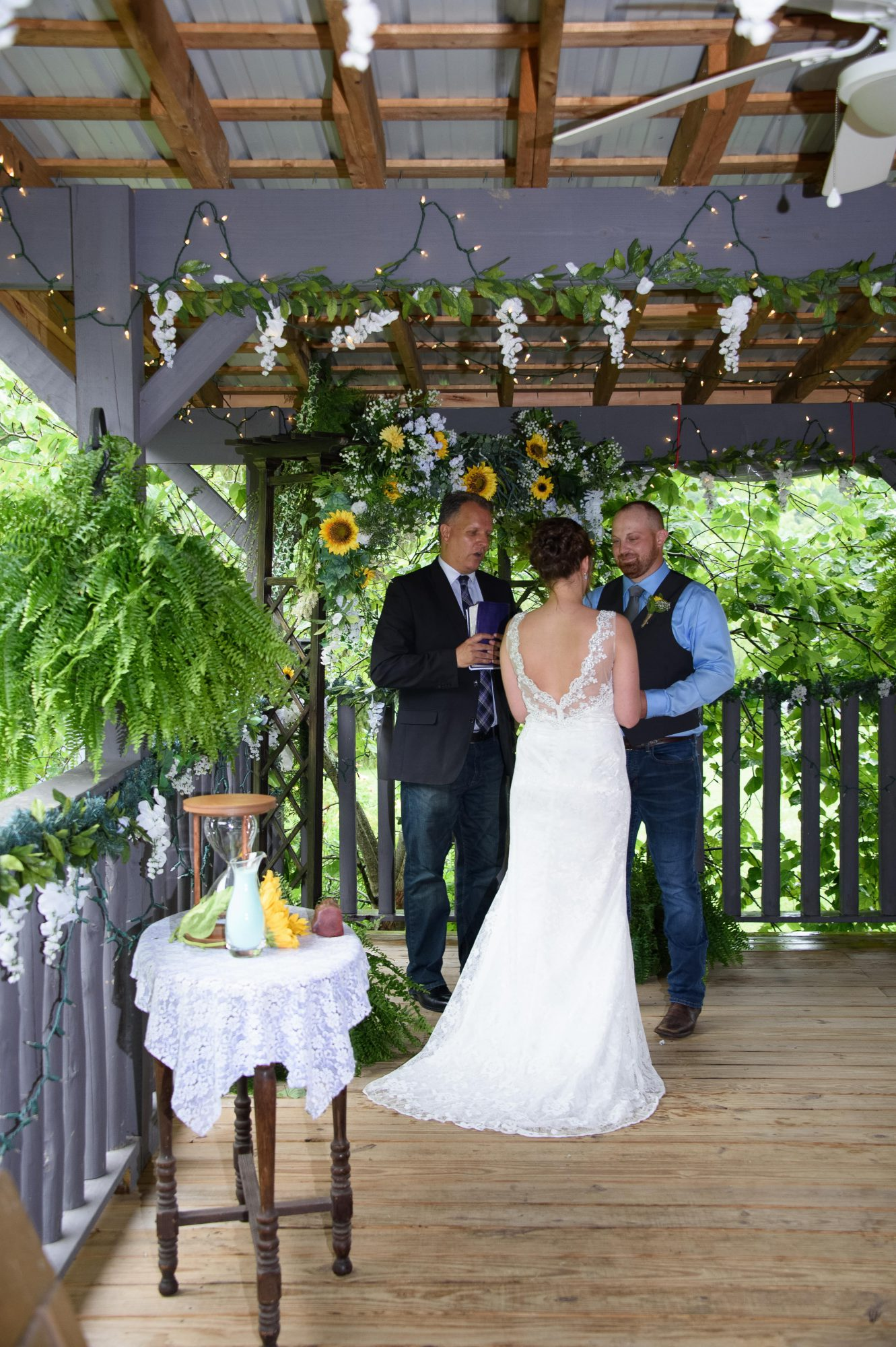 Covered Pavilion Country Mountain Wedding Honeysuckle Hills