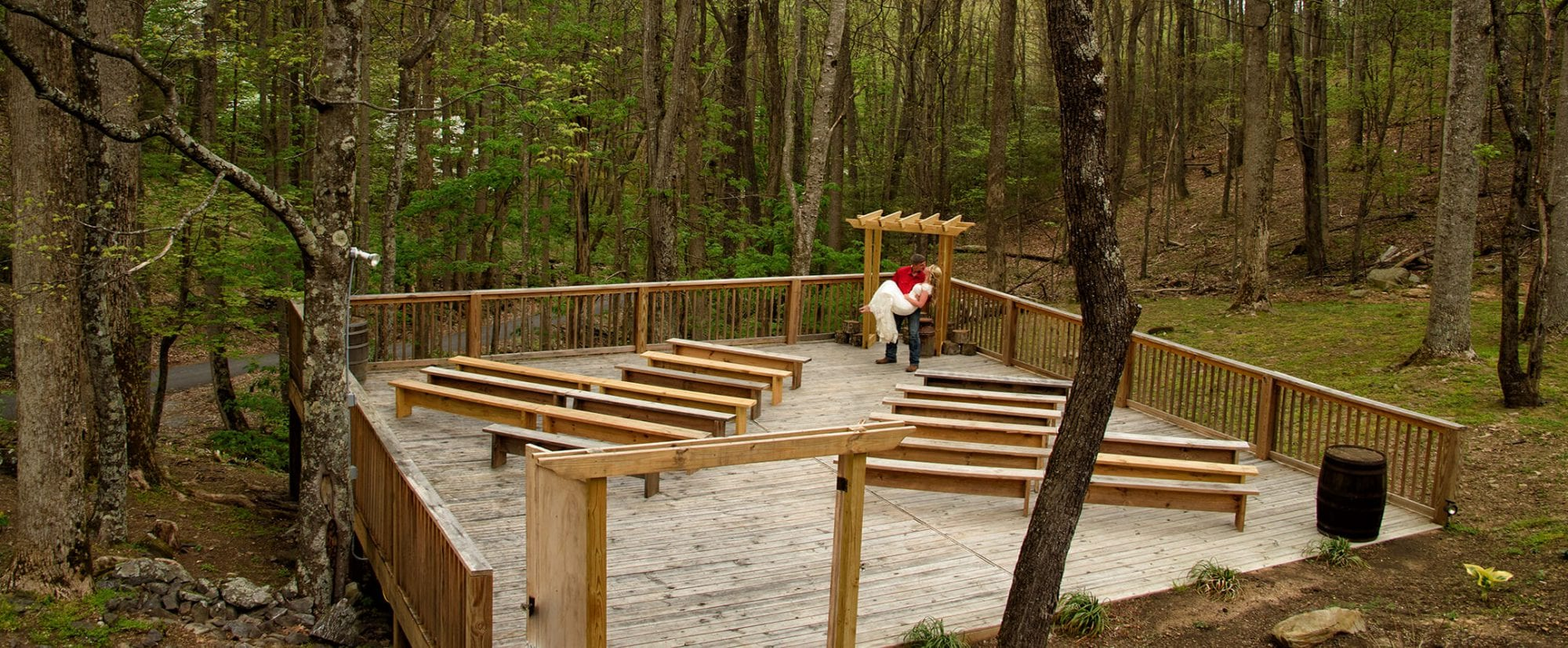 Little Mountain Hideaway wedding ceremony site in Pigeon Forge, TN