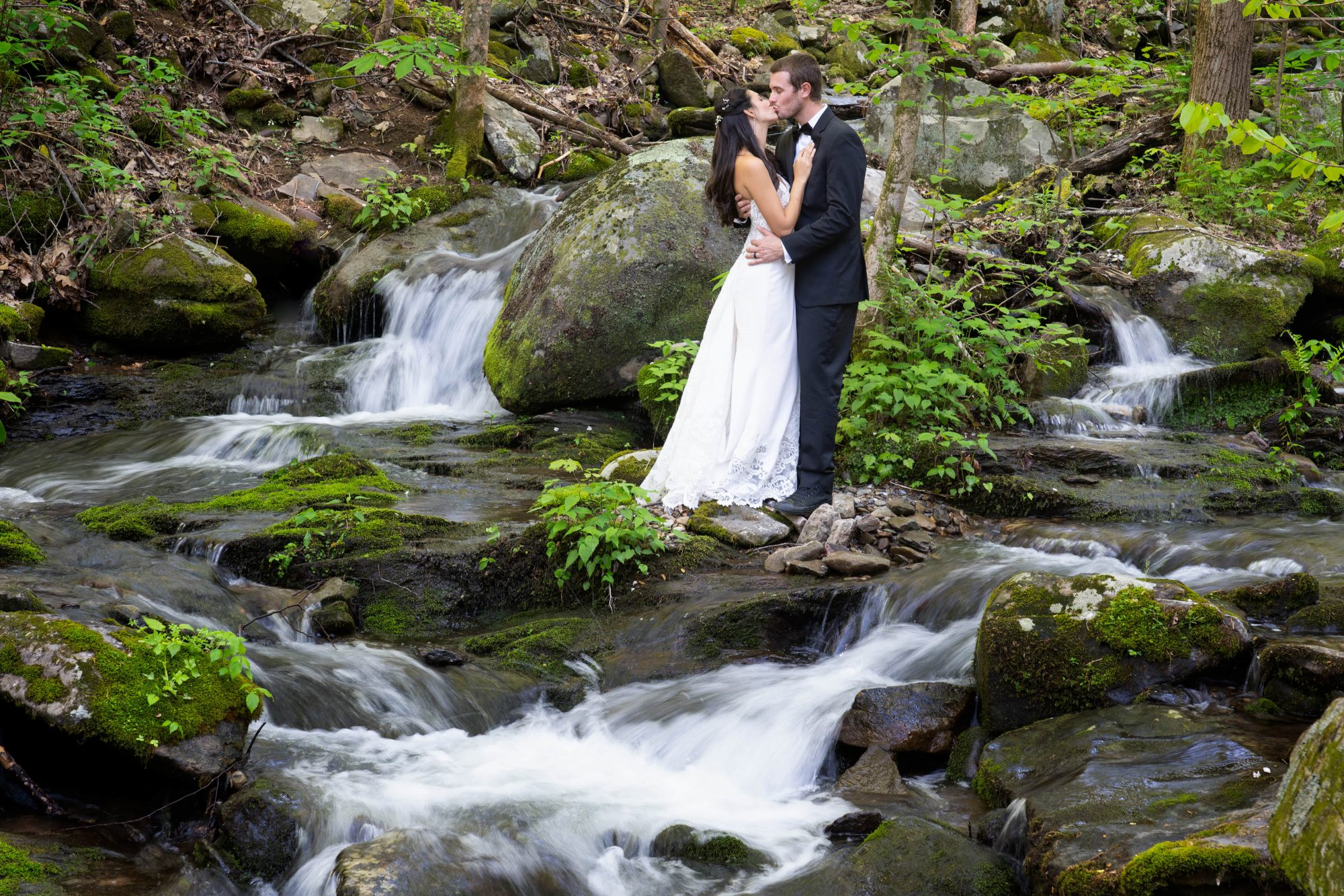 Waterfall Wedding Gatlinburg Little Mountain Hideaway